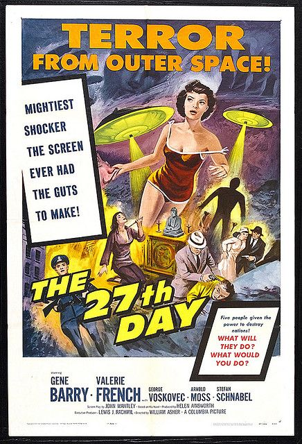 1957 27th Day The Classic Movie Posters Classic Sci Fi Movies