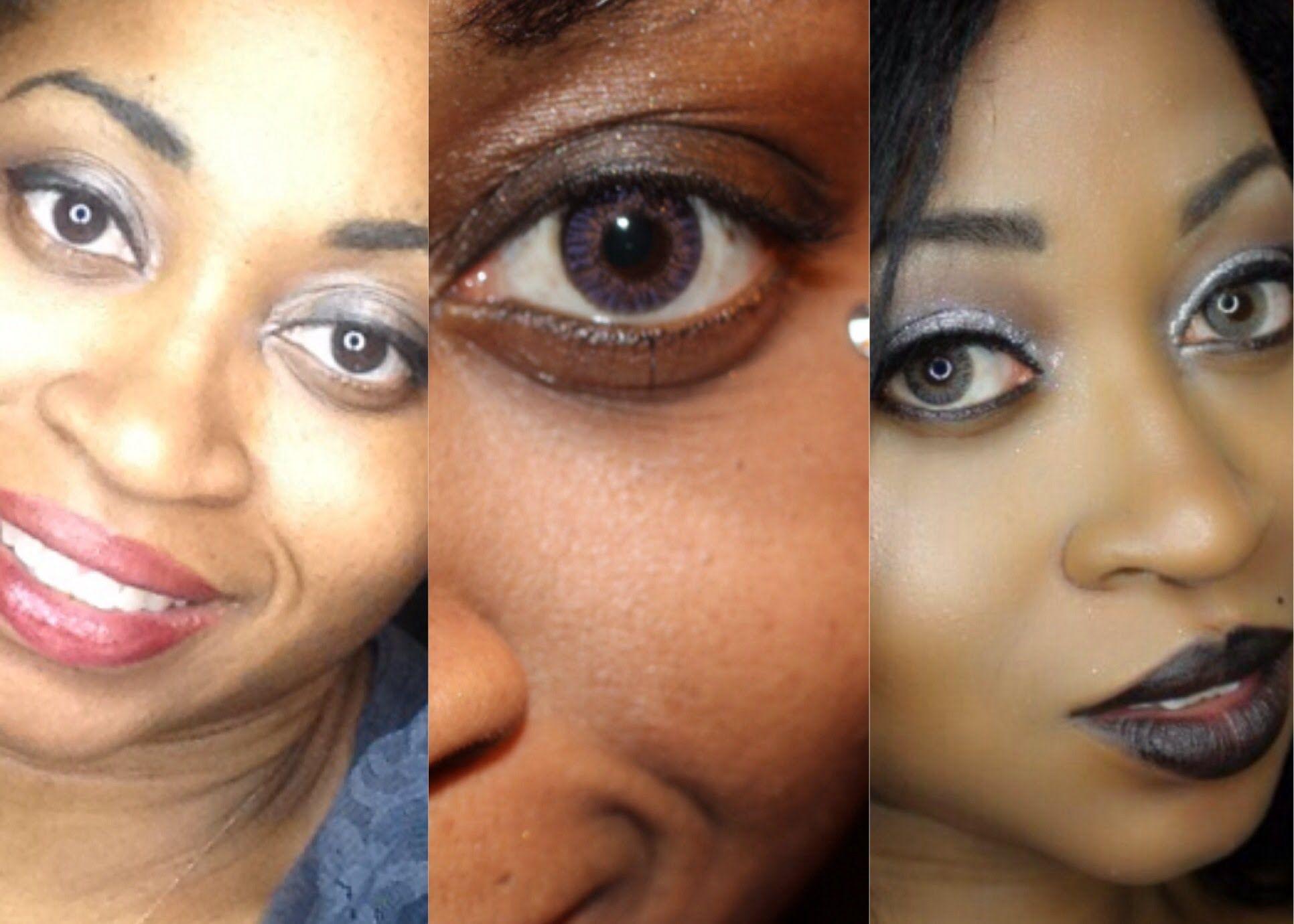 Amethyst Contacts Dark Brown Eyes