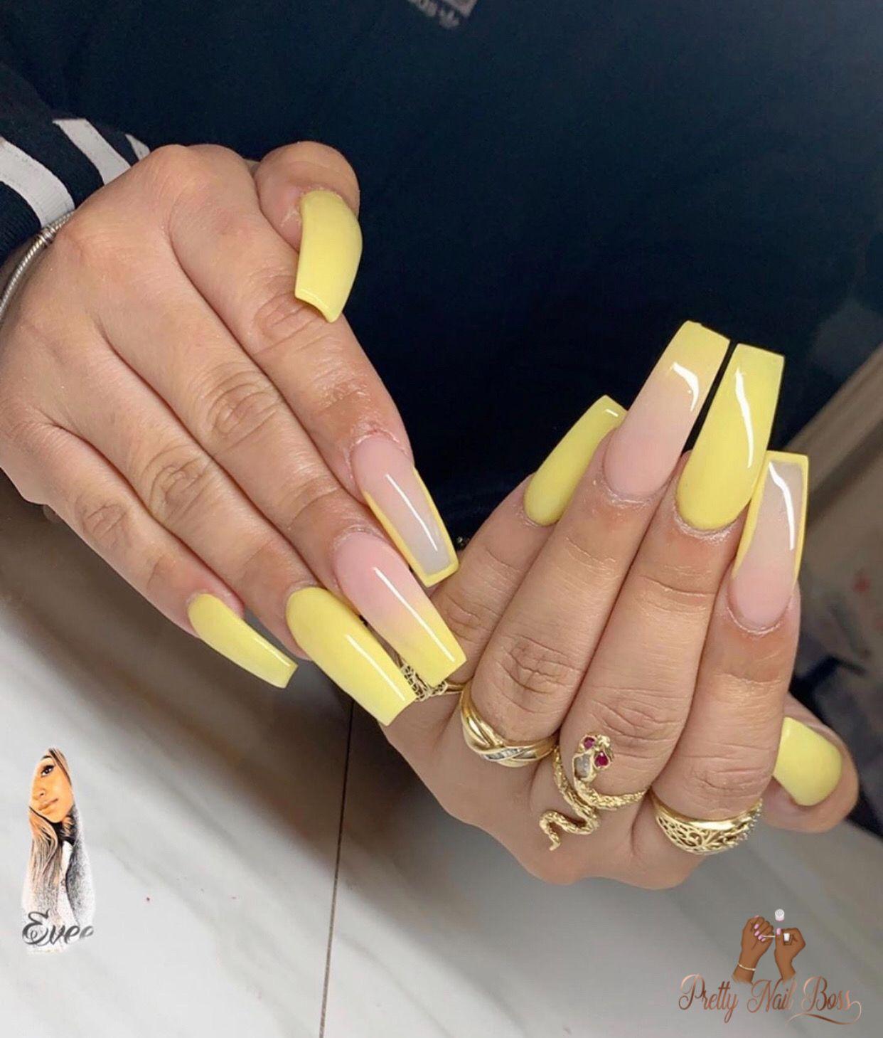 Pin On Yellow Nail Drip