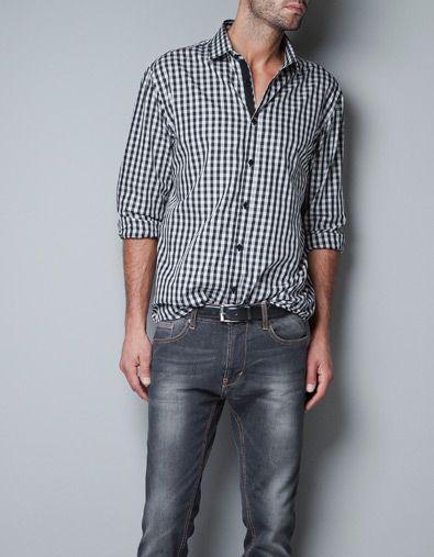 f3436d0a GINGHAM CHECK SHIRT - Shirts - Man - ZARA United States   Fashion ...