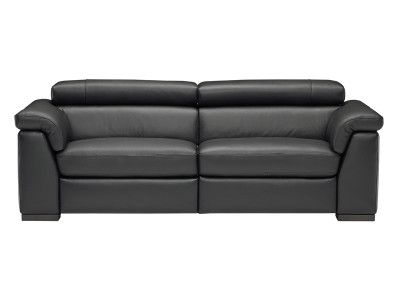 The Natuzzi Editions Modena Leather Sofa offers undeniable style and ...