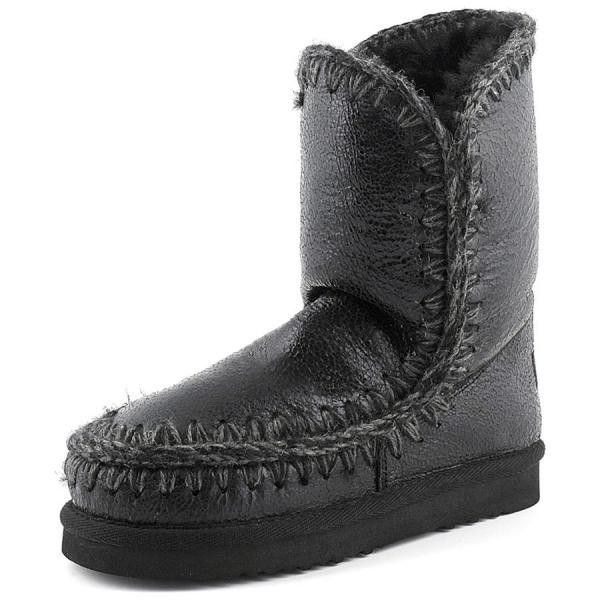 Mou Black Cracked Eskimo 24 Boots jj2N3