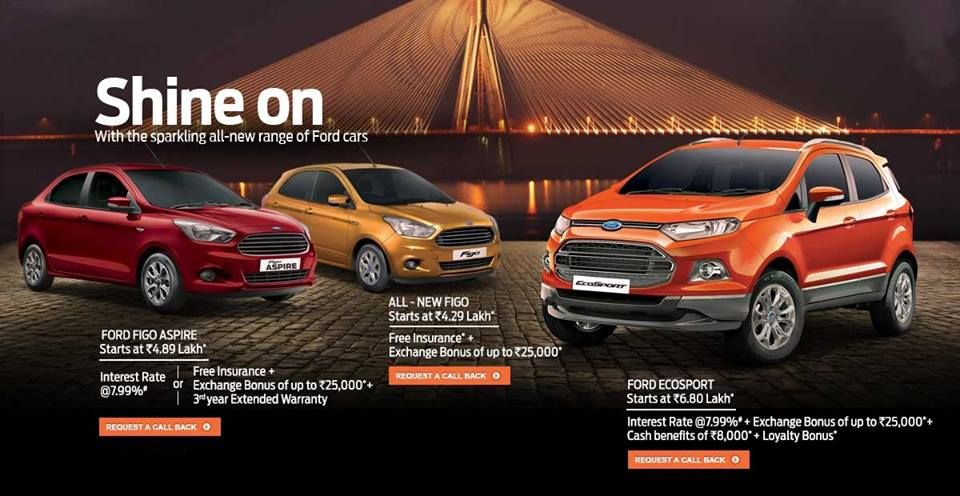 Festive Offer On All New Ford Cars Please Call For More Details