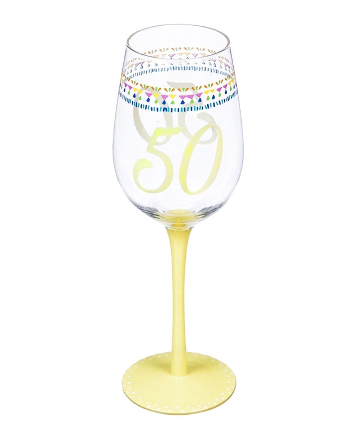 Color Changing Wine Glass 50th Birthday In 2020 Wine Glass Glass 50th Birthday