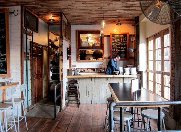 Coffee bar area in home idea