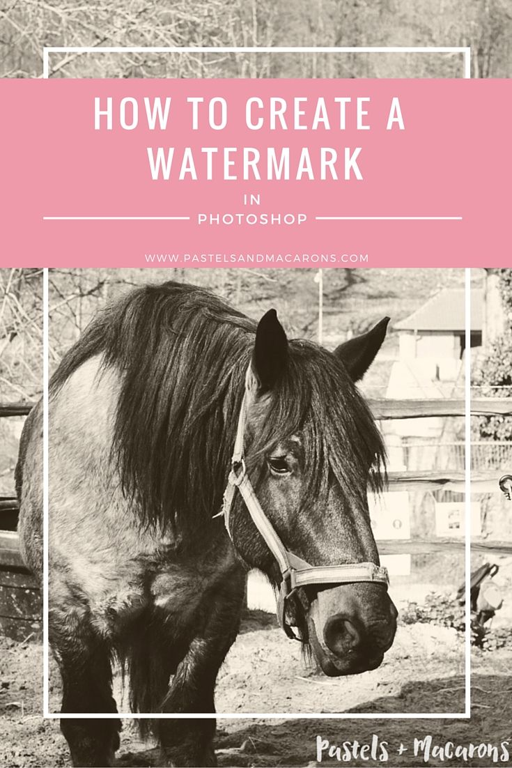How To Create A Watermark In Photoshop by Pastels & Macarons. Easy to follow tutorial.