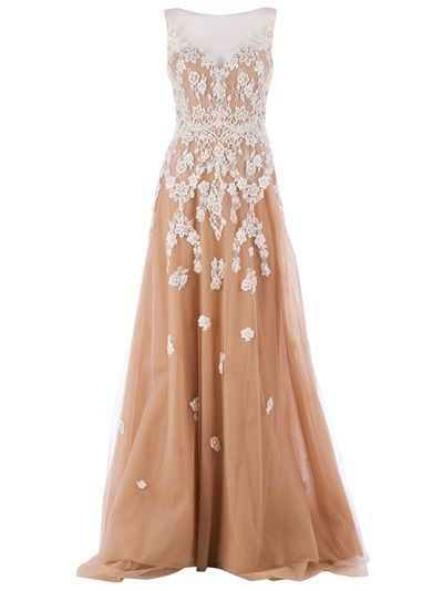 ZUHAIR MURAD Embellished Sheer Gown