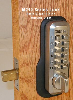 $94.92 OUR BEST PRICED LOCK: Lockey M210 Home Deadbolt Keypad Push Button  Combination Keyless Entry Door Lock