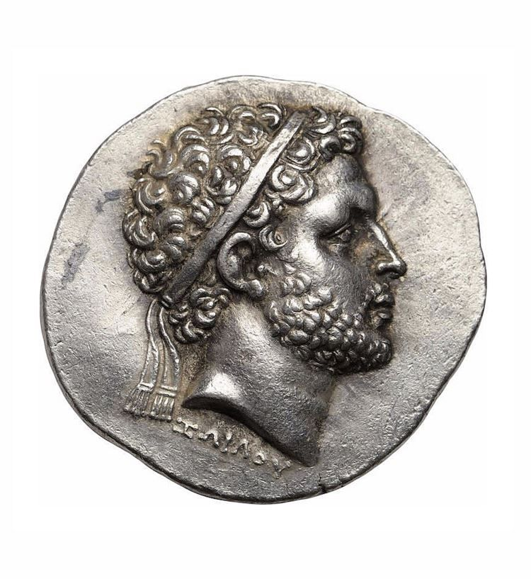 """Kings of Macedon, Perseus. Tetradrachm, c. 179-178 BC .Obverse: Signed ΖΩΙΛΟΥ below portrait on obverse, meaning """"Of Zoilos."""""""
