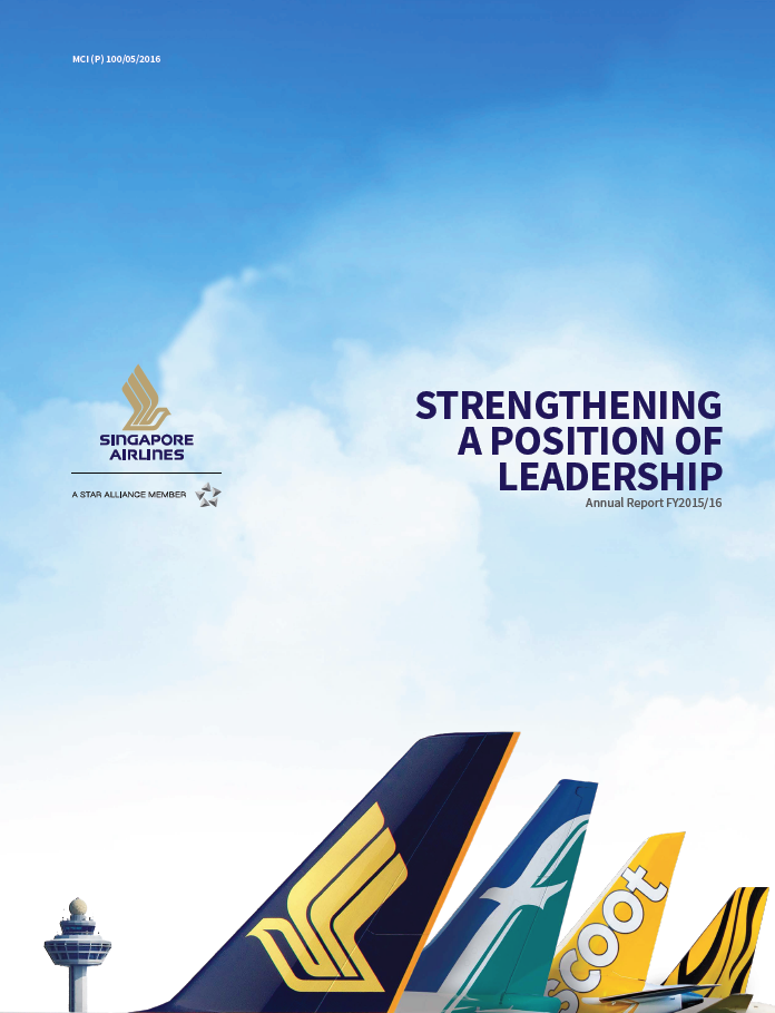 arfy1516 Annual report, Airlines, Singapore airlines