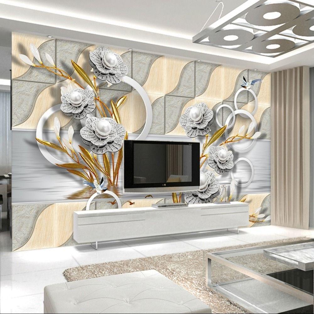 Custom Mural Wallpaper European Style Imitation Soft Pack 3D ...