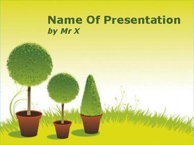 Spring Garden Powerpoint Presentation Template Dengan Gambar