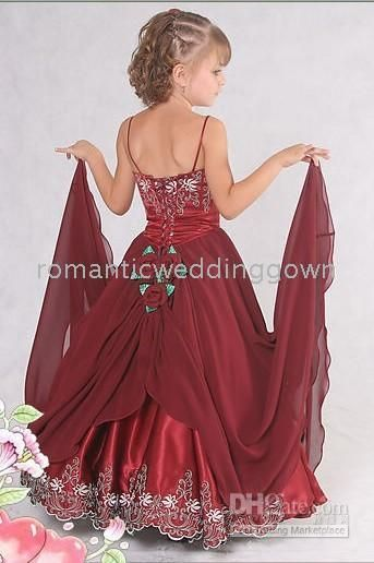 Wholesale wine red Flower Girl Dresses amp;dancing party focus Dresses/wing red wedding Flower Girl dresses, $16.8-24.64/Piece | DHgate