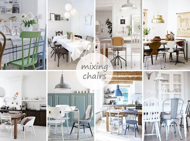 Eettafel verschillende stoelen loungeset 2017 for Verschillende kleuren eetkamerstoelen