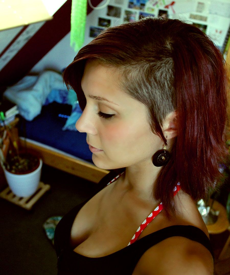 Sidecut cute on her sidecut pinterest undercut hair