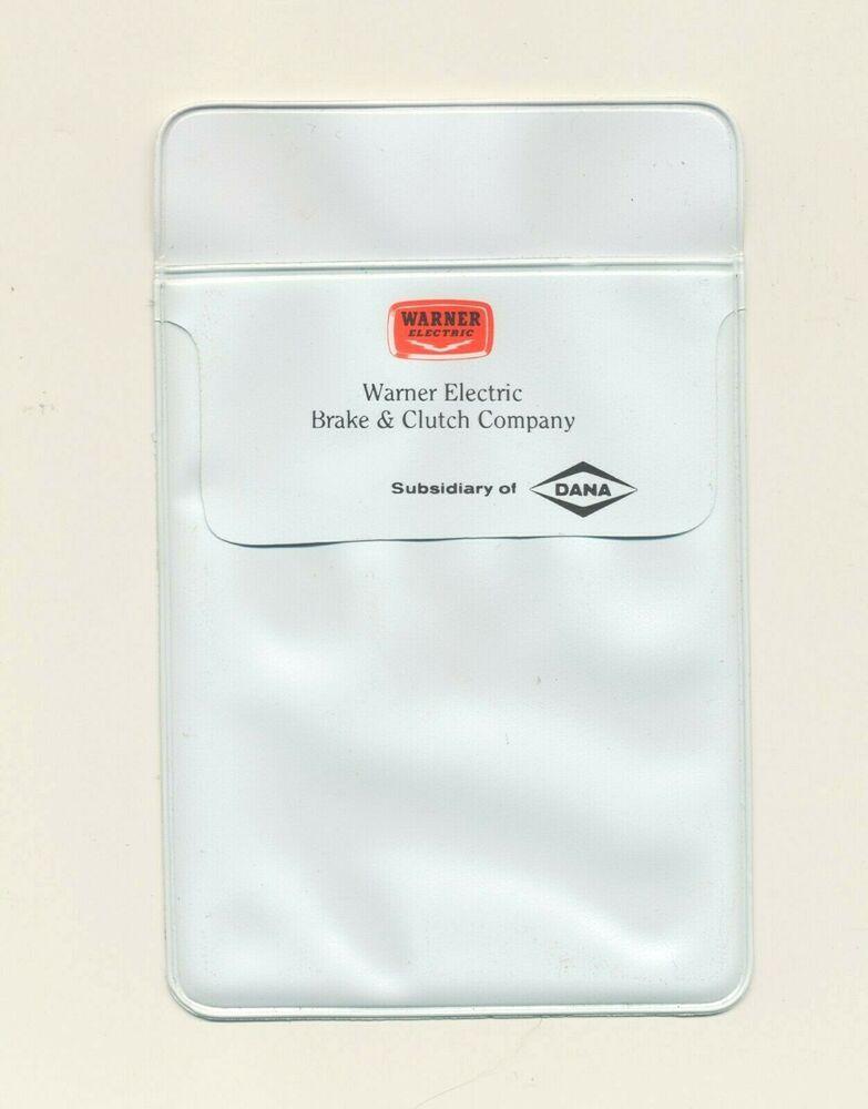 Dana Pocket Protector Free Shipping Vintage Warner Electric Brake /& Clutch Co