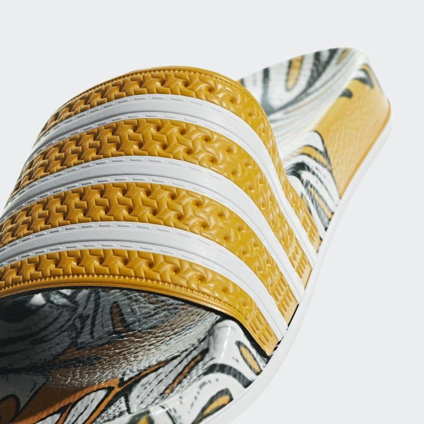 a580cbdd5d2b Adilette Slides Craft Gold   Off White   Craft Gold D96682