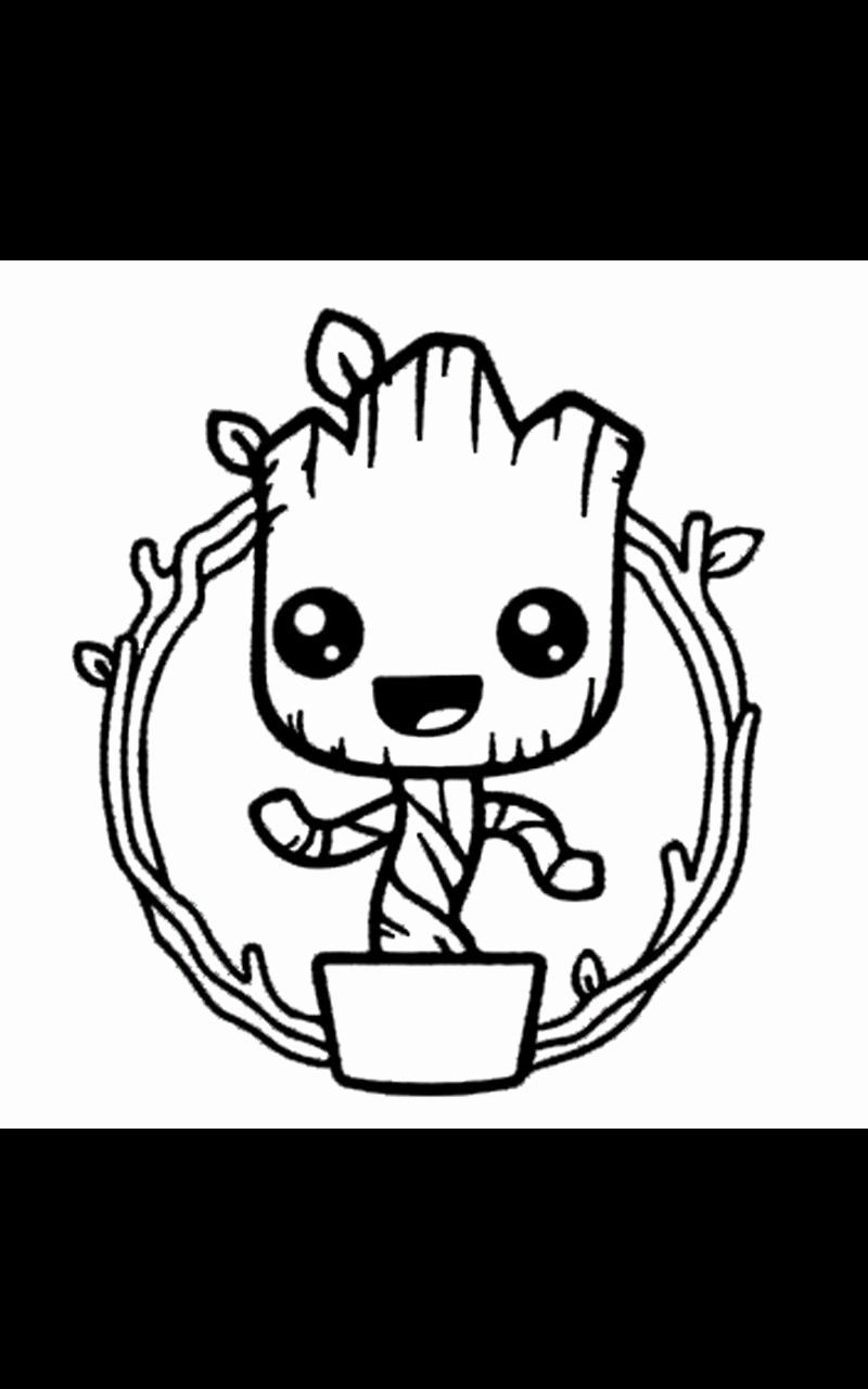 Baby Groot Coloring Page Awesome Baby Groot Coloring Page Coloring Pages Groot Mermaid Coloring Pages