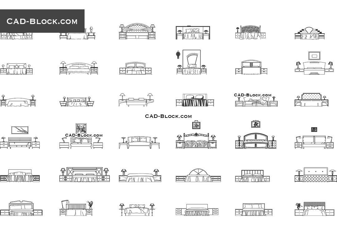 Bedroom Cad Blocks Detailsinterior Design Full Cad Blocks