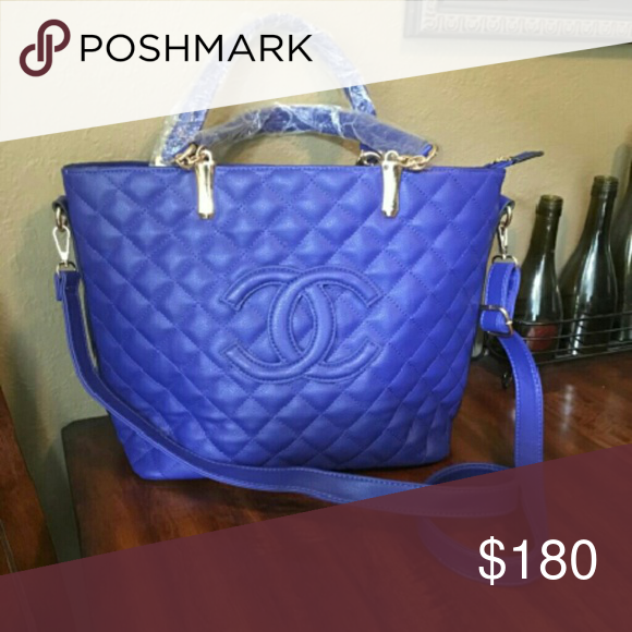 bag Blue flashy not the real deal but a great deal snag it while its hot CHANEL Bags