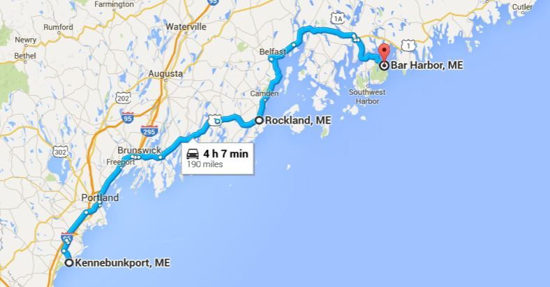 Plan The Perfect Maine Coastal Road Trip The Easy Way Abundance - Map of eastern maine