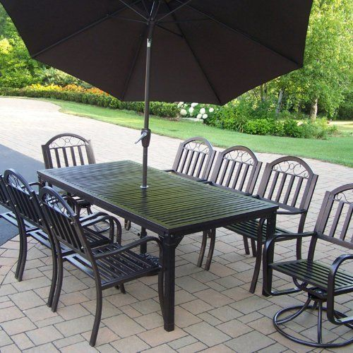 5732a41957fa Oakland Living Rochester Deluxe Patio Dining Set - Seats 8 Size-Color -  Seats 8