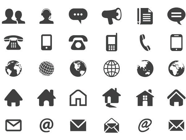 Contact Flat Icons Free Vector | design : freebies & tuts ...