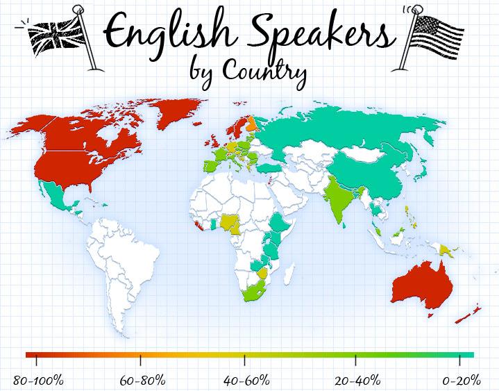 English Speaker Countries Google Search English Pinterest - English language world map