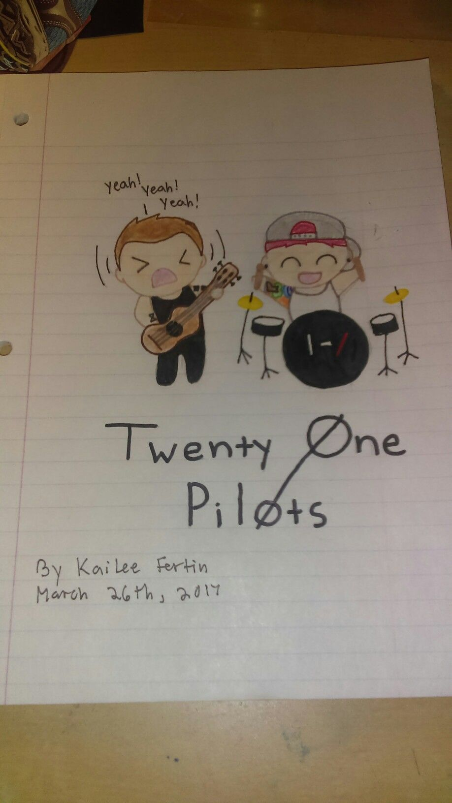 Pretty much twenty Øne piløts xd by kailee fortin my drawings