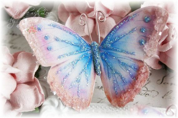 Dreamy Butterfly Embellishment Set for by LittleScrapShop on Etsy