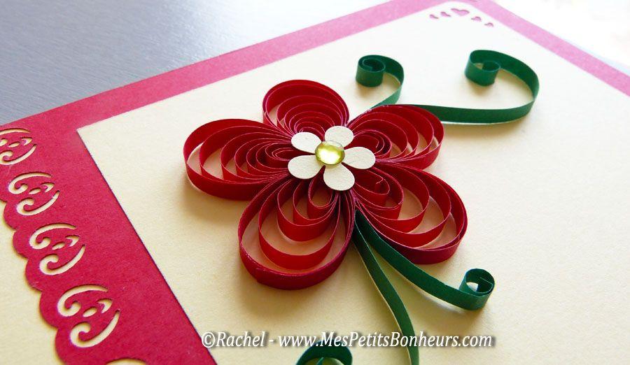 Fleur quilling carte fete des meres projet pinterest f te des m res m - Fleur fete des meres ...