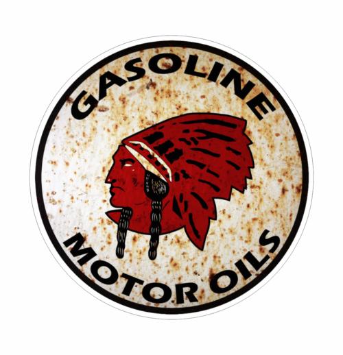 Benzin Gasoline Dæk Olie Retro Klistermærker Stickers Retro