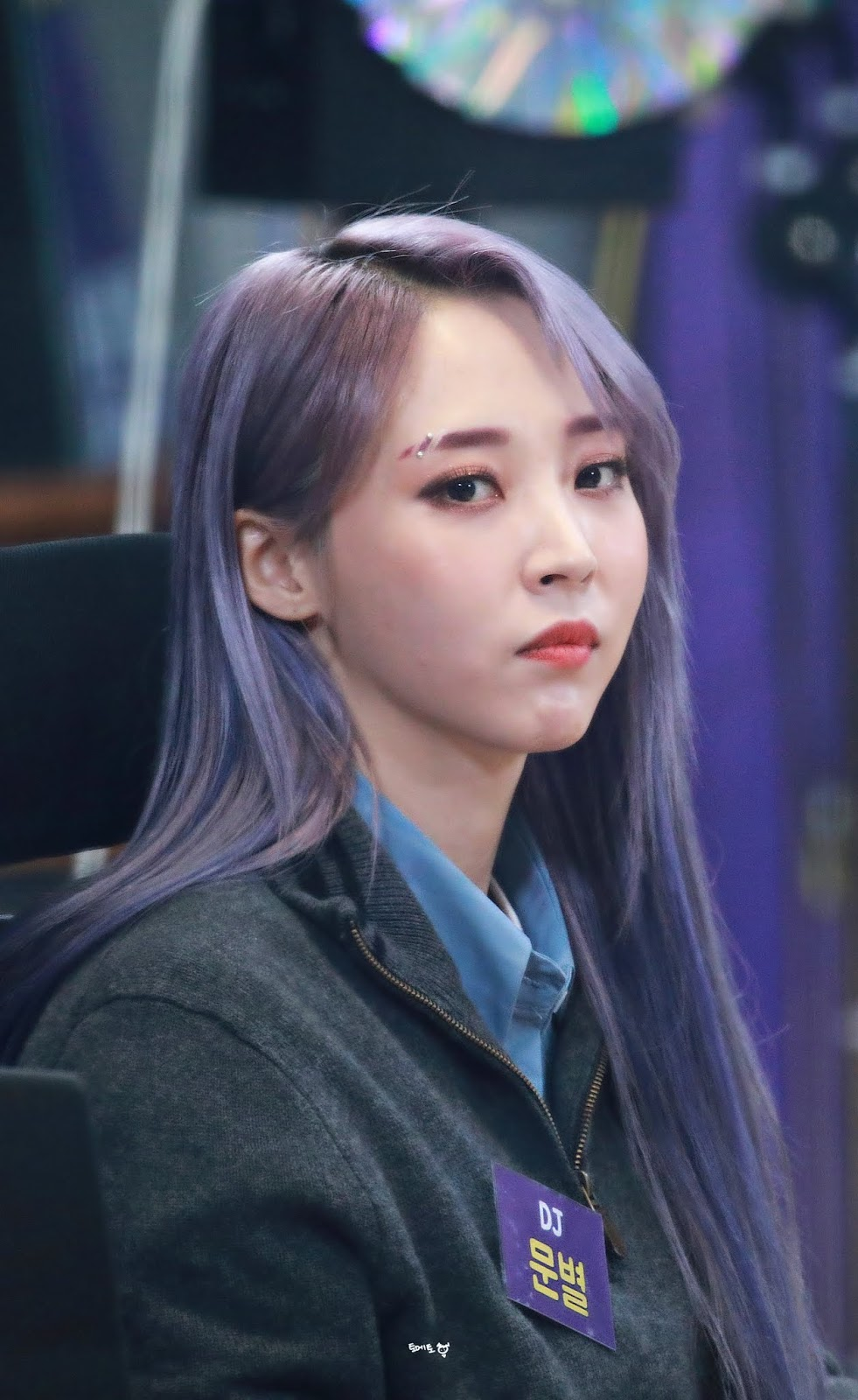 Notitle Moonbyul Eyebrows Dyed Hair