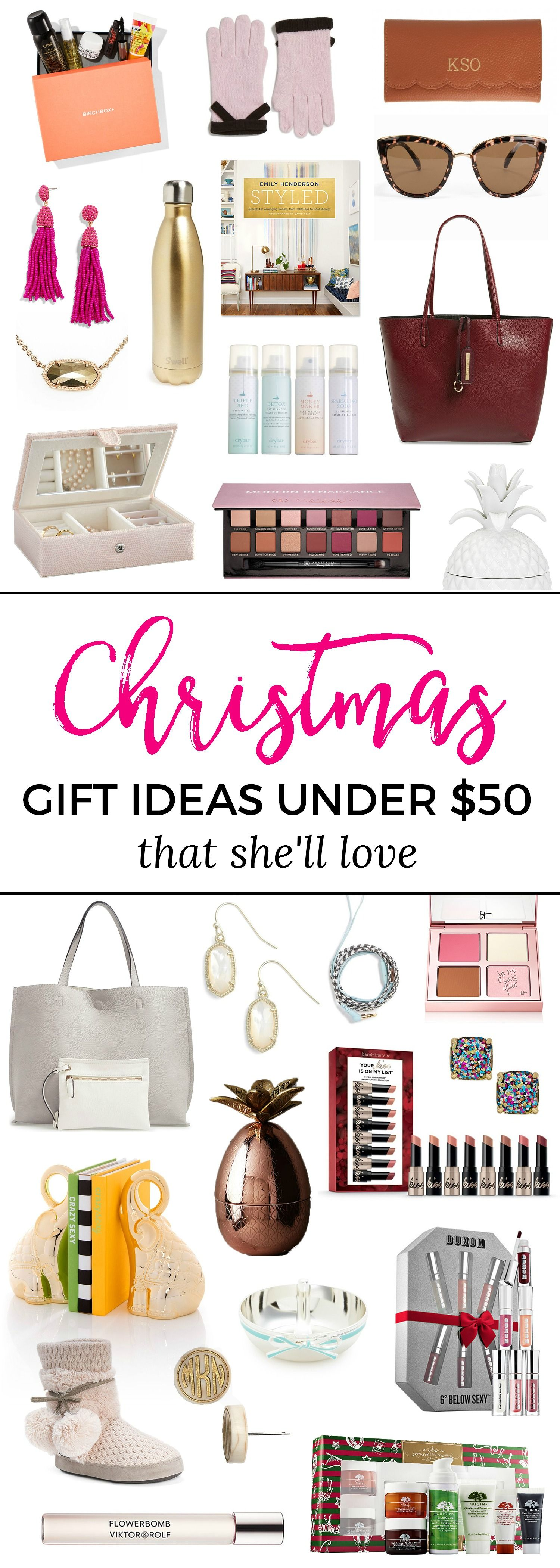 The Best Christmas Gift Ideas for Women under $50 | Ashley brooke ...
