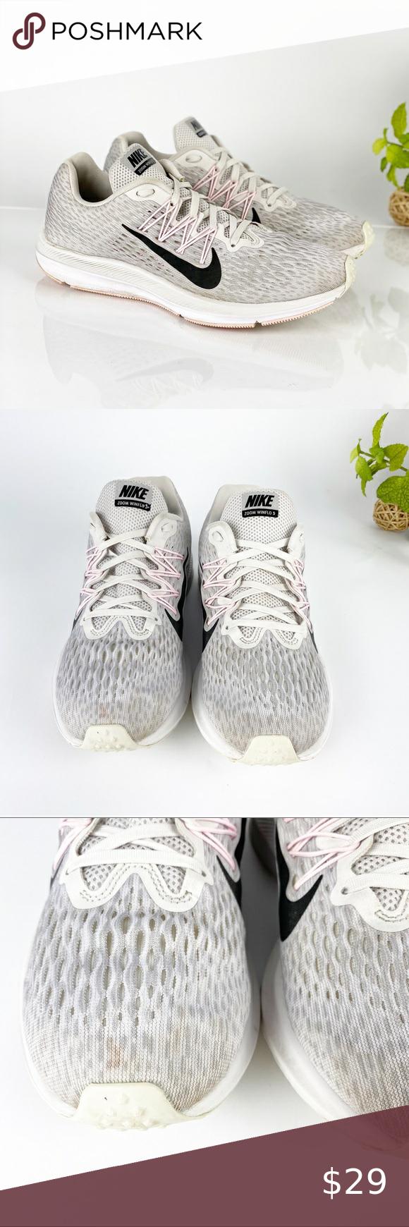 Nike Air Zoom Winflo 5 Running Shoe Vast Grey Pink in 2020 ...