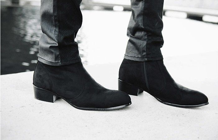 men suede leather boots