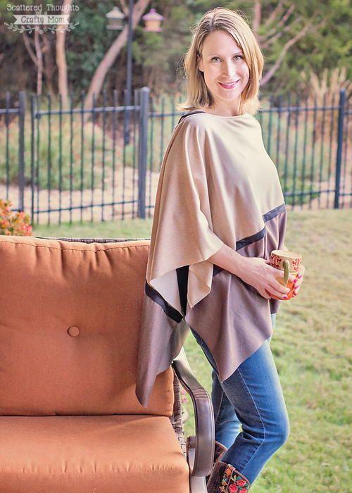 Asymmetrical Autumn Poncho | Ponchos