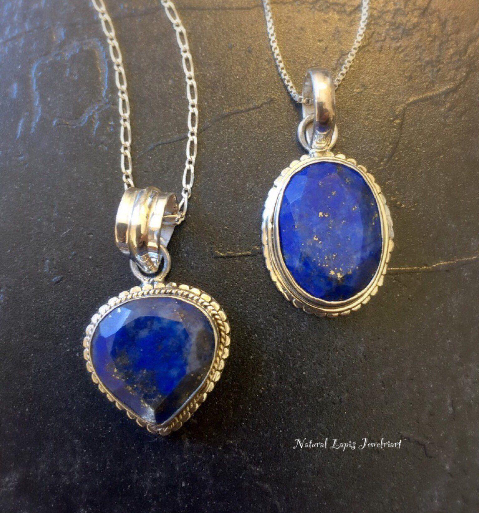 Lapis Lazuli Necklace Lapis Lazuli Pendant Unique Lapis Etsy In 2020 Lapis Pendant Solid Silver Necklace Lapis Lazuli Pendant