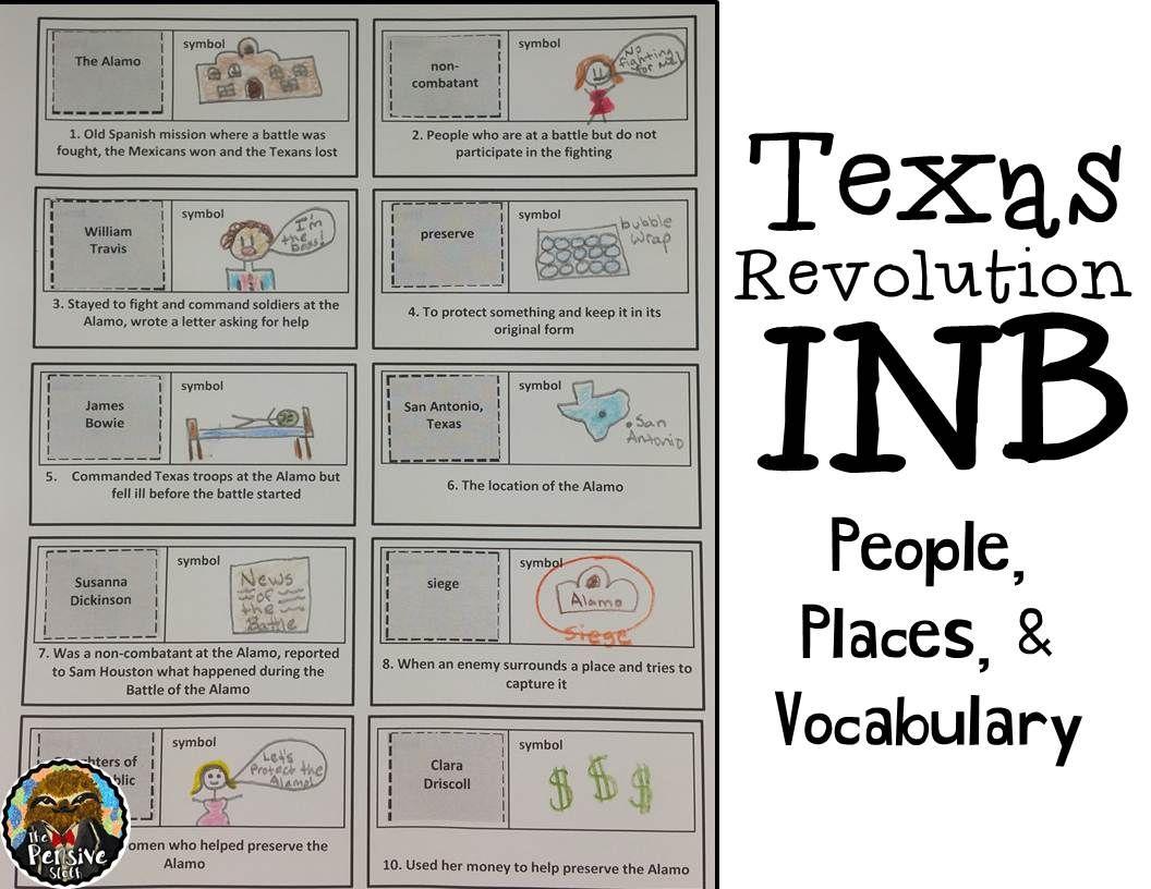 4th Grade Texas Revolution & Alamo Interactive Notebook ...