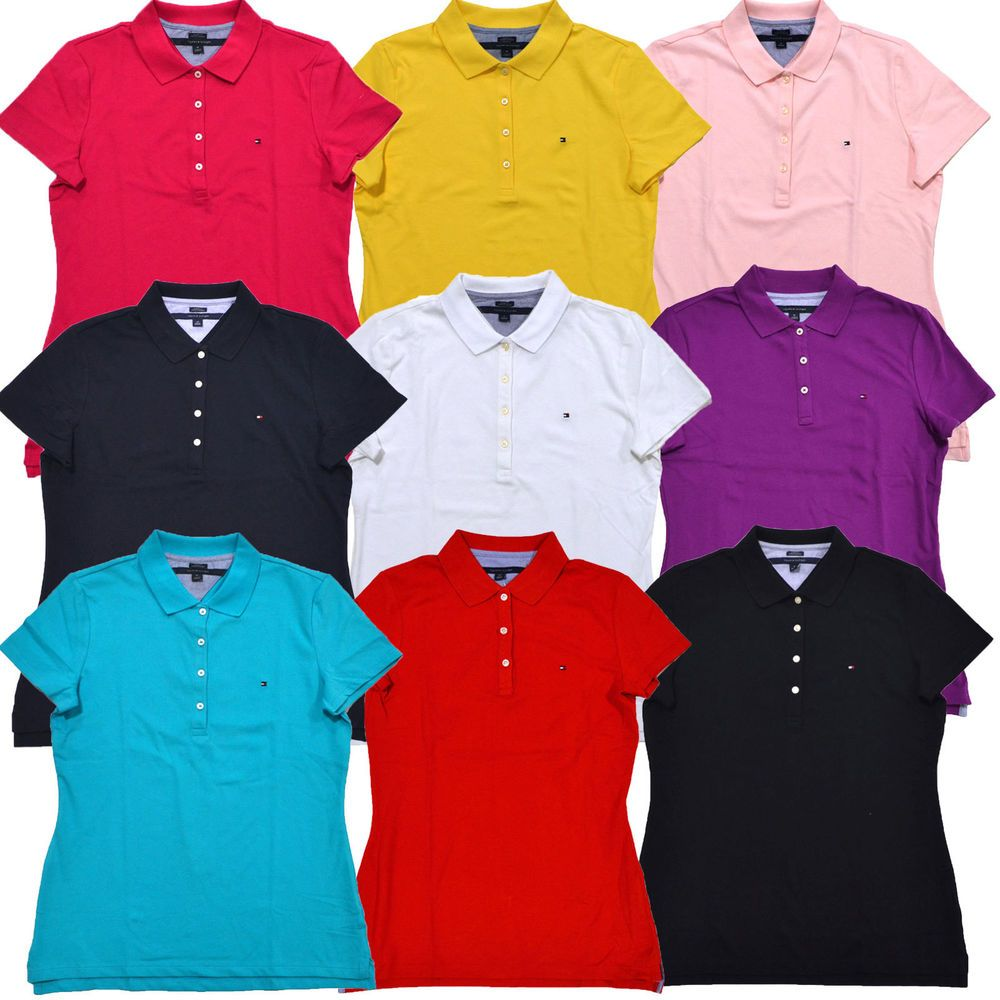 4973658c4 Tommy Hilfiger Polo Shirt Womens Short Sleeve Classic Mesh Heritage  Tailored Fit #TommyHilfiger #PoloRugby #Casual