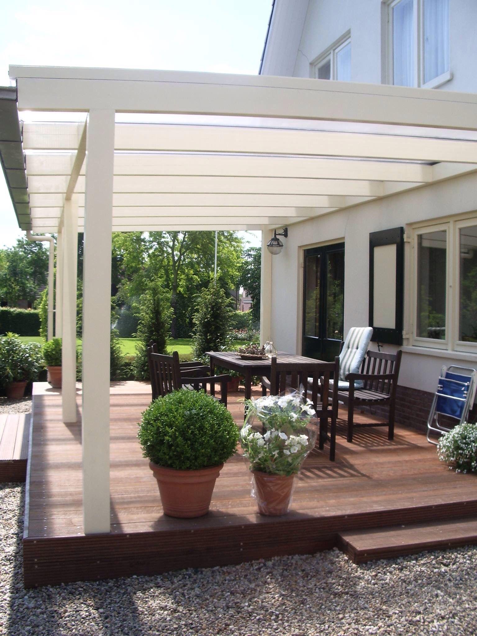 Veranda op maat gemaakt van hout met polycarbonaat dak veranda van hout op maat gemaakt - Pergola met dak ...