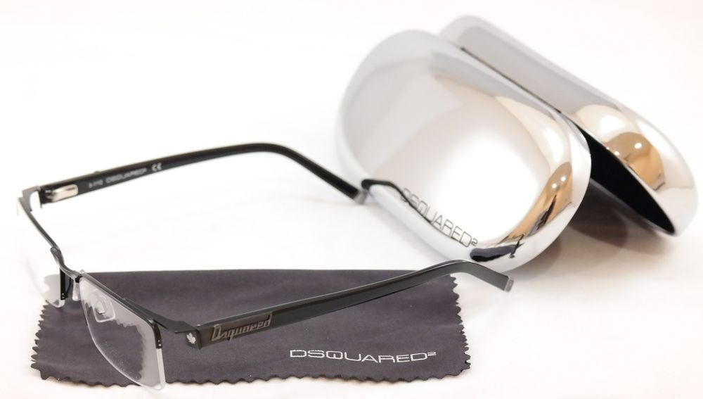 0aa26f4fc40b Dsquared2 Authentic Eyeglasses Frame DQ5069 002 Black Metal Plastic High  Quality  DSQUARED2