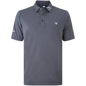 Callaway Golf 2016 Mens Solid Opti-Vent Tour Polo Shirt - Asphalt ...