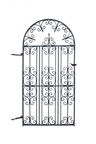 Early 20th C Wrought Iron Arched Garden Gate Uk Architectural Heritage Wrought Iron Wrought Iron Gates Metal Gates