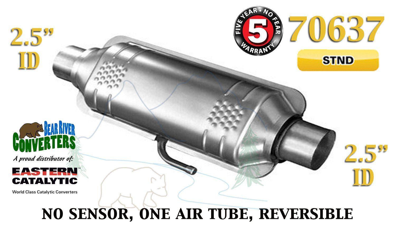 "70317 Eastern Universal Catalytic Converter Standard 2.25"" 2 1//4"" Pipe 10"" Body"