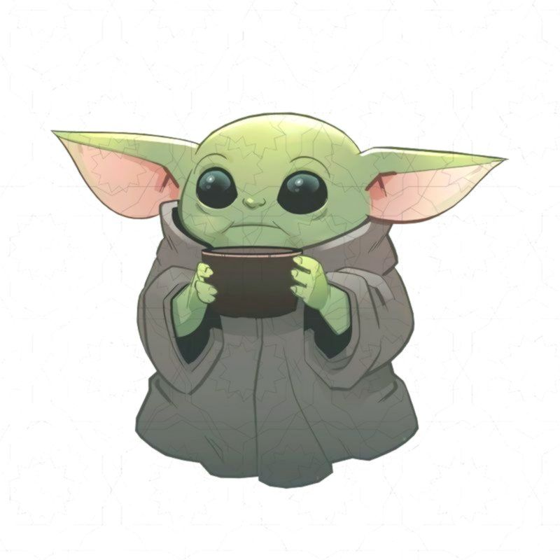Baby Yodababy Yoda The Mandalorian T Shirt Design Png Yoda Drawing Cute Easy Drawings Drawings