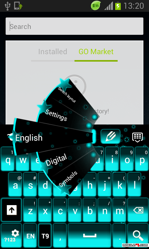 下载Neon Blue KeyboardGO Keyboard Themes keyboard