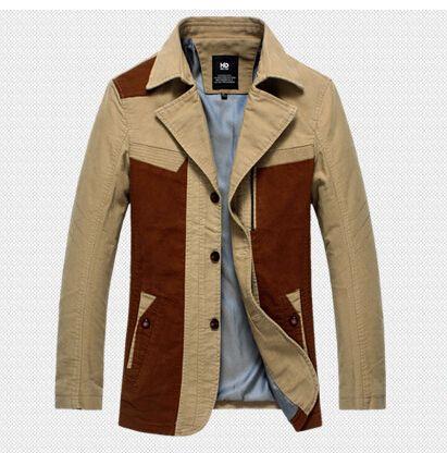Barato 2015 nova marca de moda Slim Fit casacos de alta