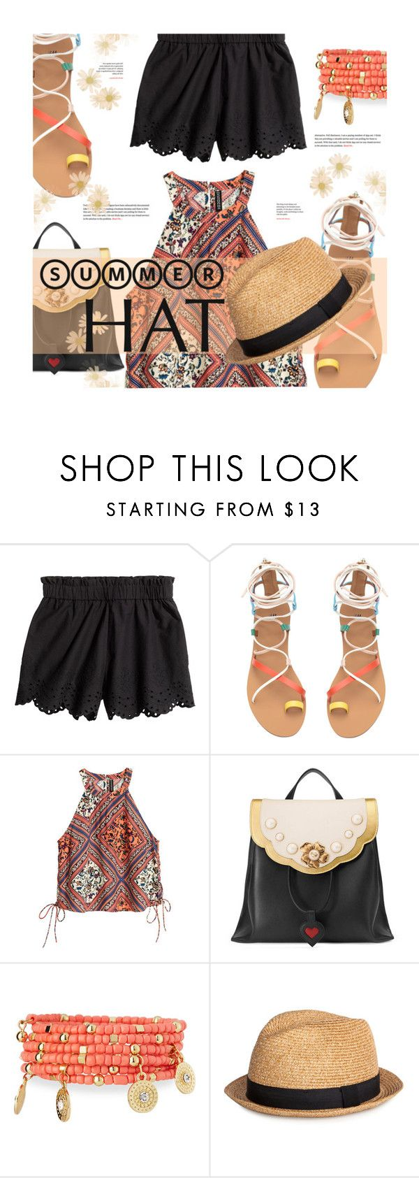 """Top it off: Summer Hats"" by stacey-lynne ❤ liked on Polyvore featuring Gucci and Emily & Ashley"