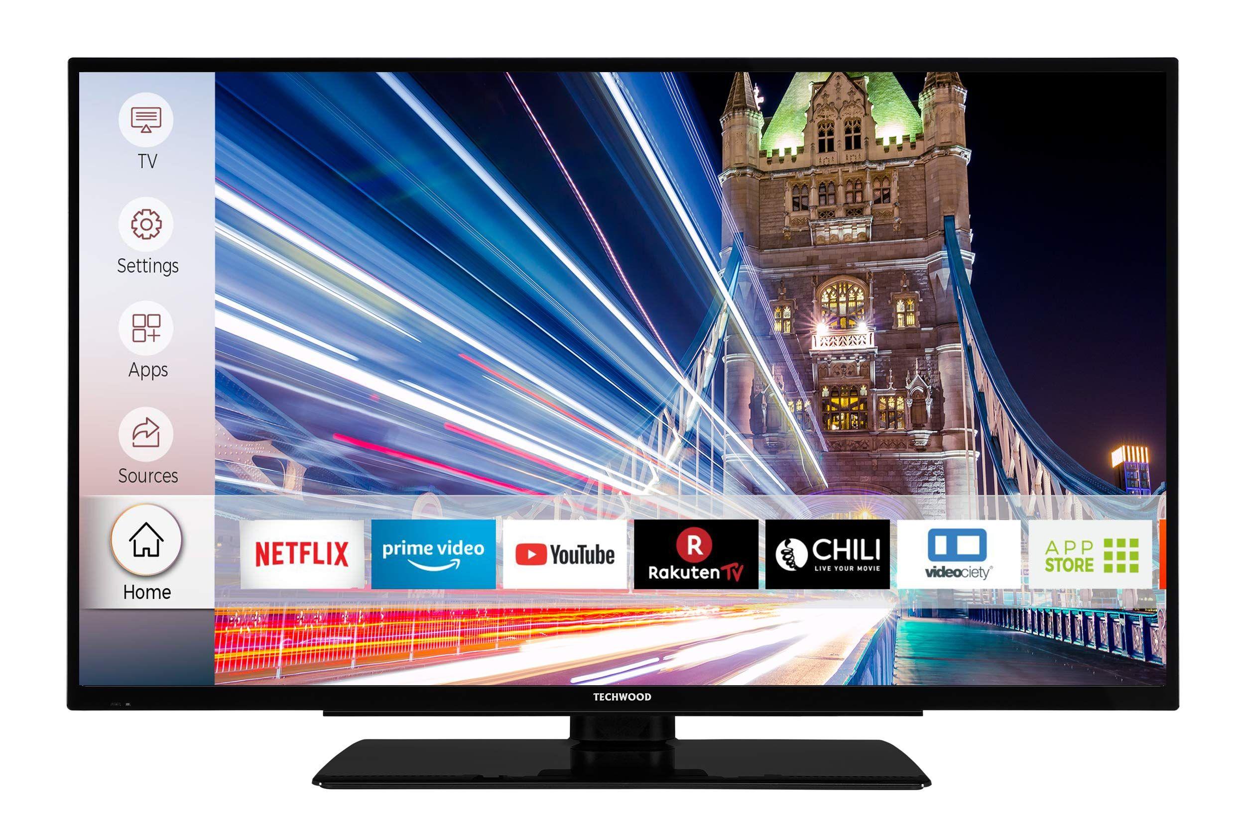 Techwood U40t52c 102 Cm 40 Zoll Fernseher 4k Ultra Hd Hdr10 Triple Tuner Smart Tv Prime Video Works With Alexa Dolby A In 2020 Smart Tv Works With Alexa Tuner